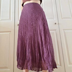 Purple floral embroidery cottagecore maxi skirt 10